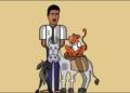 فنان مصري يرسم أبرز الشخصيات التي جسدها الراحل أحمد زكي
