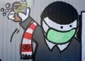 هكذا دعم فنانو الشوارع الأطقم الطبية في روسيا