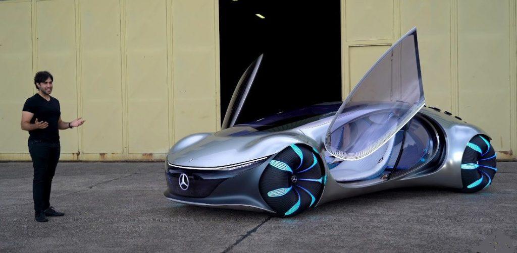"""""""مرسيدس"""" تكشف عن نموذج سيارتها الكهربائية المستوحاة من """"أفاتار"""""""